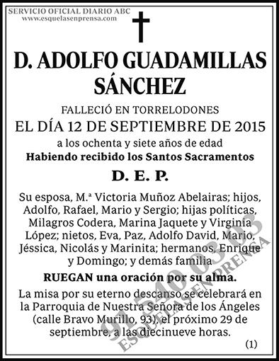 Adolfo Guadamillas Sánchez